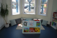 whole lw bay window and books