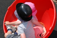 child in wobbler