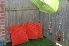 outdoor shady area